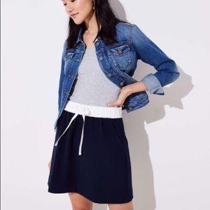 Drawstring Miniskirt